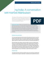 Reimagining India a Conversation With Kishore Mahbubani