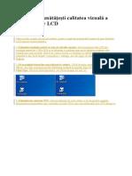 Cum Să Îmbunătăţeşti Calitatea Vizuală a Unui Monitor LCD