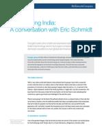 Reimagining India a Conversation With Eric Schmidt