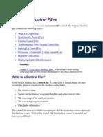 Managing Control Files