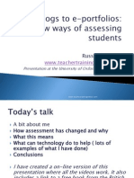 My presentation on assessment with ICT at Oxford University