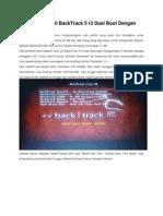 Cara Menginstall BackTrack 5 r3 Dual Boot Dengan Windows