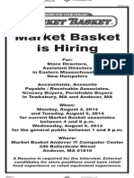 Market Basket job fair ad