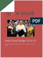India Union Budget 201415 EBooklet