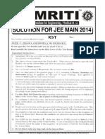 Jee Main 2014 Solution