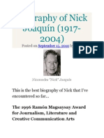 Biography of Nick Joaquín