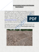 Phosphate Rock Fertilizer Egypt