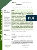 Pesticidal Efficacy of Crude Aqueous Extracts of Tephrosia Vogelii L., Allium Sativum L. And Solanum incanum L. in controlling aphids (Brevicoryne brassicae L.) in rape (Brassica napus L.)