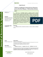 Identification and Evaluation of Antifungal Compounds From Botanicals for the Control of Sugarcane Red Rot Pathogen, Colletotrichum Falcatum