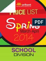Arihant Price List (School Division)