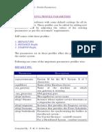 R3 Profile Parameters