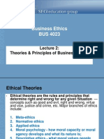Lecture 2 - Ethical Theories of Business Ethics
