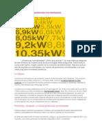Potencias electricas normalizadas