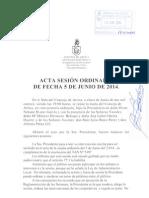 Acta Sesión Ordinaria 05-06-2014