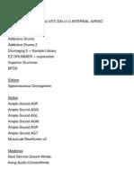 Lista de Vsti e Biblioteca de Samples Para Kontakt