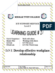 learninig outcome 1