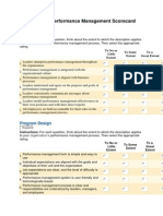 Sibon Consulting Performance Management Score Card