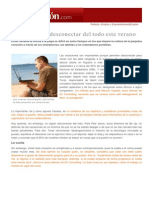 Consejos para desconectar del todo este verano - A. Bustillo - 19072014 - Expansión y Empleo