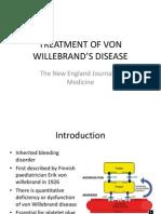 Treatment of Von Willebrand's Disease