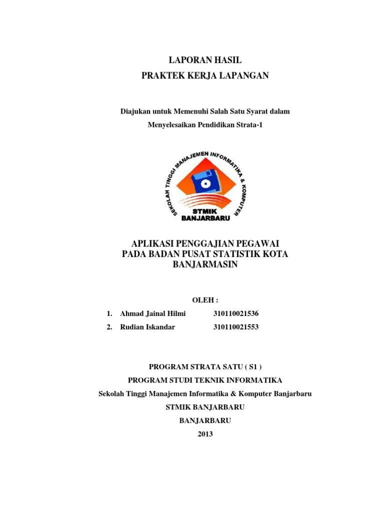 Contoh Laporan Pkl Sistem Informasi Penggajian Kumpulan Contoh Laporan