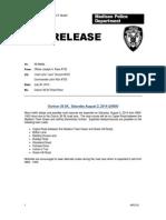 2014 MPD Press Release Outrun 5K Traffic Delays