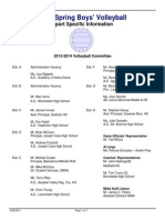Volleyball Spring 14 Format