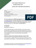 HOBY Action Legislature Registration Fom 2014
