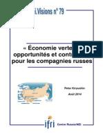 Peter Kiryushin, « Economie verte »