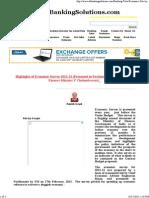 Highlights of Ecoomic Survey 2012-13