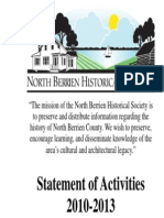 NBHS Statement of Activities 2010-13