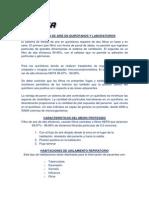 Filtracion de Aire en Quirofanos y Laboratorios