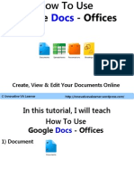 How to Use Google Docs Offices Document Powerpoint Spreadsheet - Innovative VA Learner