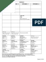 Fall 2014 Class Schedule