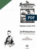 Ernst Jünger - In Stahlgewittern (1922)