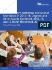 Postsecondary Institutions and Price of Attendance in 2013-14; Degrees and Other Awards Conferred