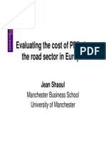 Evaluating the Cost of PPPs in the Road Sector in Europe