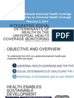 Presentation 2 Integrating SDH in UHC