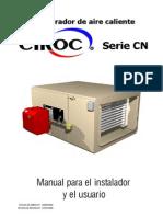 Manual Generadores de Aire Caliente Serie CN