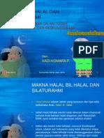 Halal Bil Halal Dan Silaturahmi
