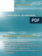 Psi Adm Aula 07 Competencia Interpessoa1