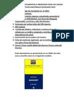 Relacion de Documentos a Presentar Para Los Juegos Deportivos Nacionales Escolares 2014