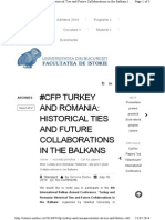 Cfp Turkey and Romania Histori
