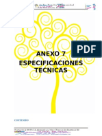 Anexo 7 - Especificaciones Técnicas