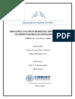 Research Paper Securitization