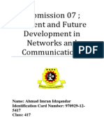 S07 Current and Future Development in Networks and Communications