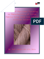 Effects of Functional Finishing on Characteristics of Cotton Fabrics Using Garad Tree