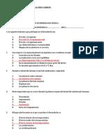 Prueba de Conocimientos I Examen Parcial de Embriologia(Clave)