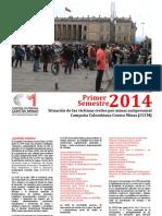 Situación de Víctimas MAP, MUSE y AEI 2014-1 (Informe)