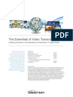 Wp Essentials of Video Transcoding