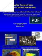 2013 Radionuclide Transport from Fukushima to Eastern North Pacific
